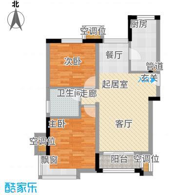 金隅悦城85.00㎡二期洋房标准层J户型