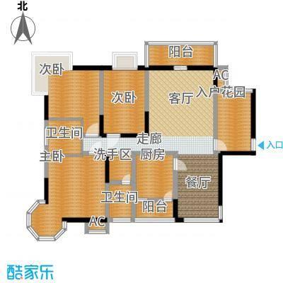 太白庭院128.00㎡面积12800m户型