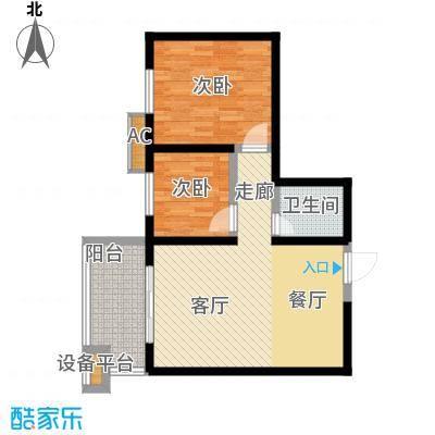 宝枫佳苑82.58㎡E5面积8258m户型