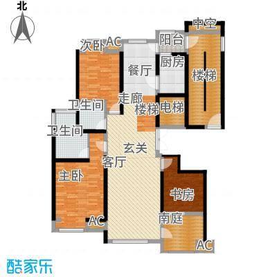 腾业南院131.00㎡洋房A1下层面积13100m户型