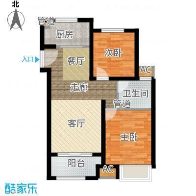 雍鑫红星华府88.00㎡瞰景高层标准层C2户型