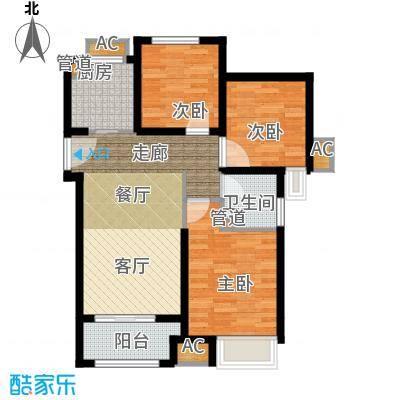 雍鑫红星华府98.00㎡瞰景高层标准层D2户型