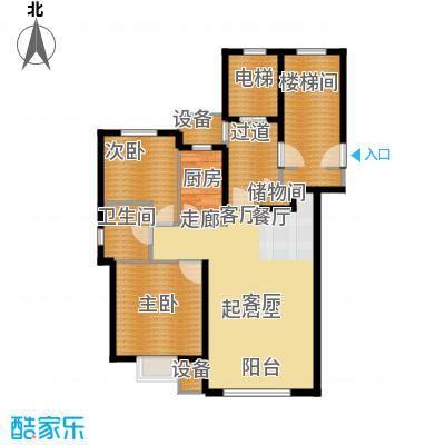 天房意境102.00㎡33、34、35号楼标准层C户型