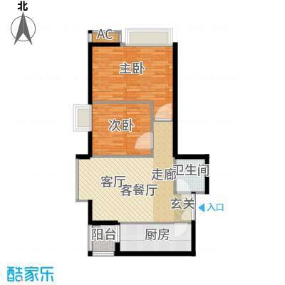 高新枫尚70.07㎡B101面积7007m户型