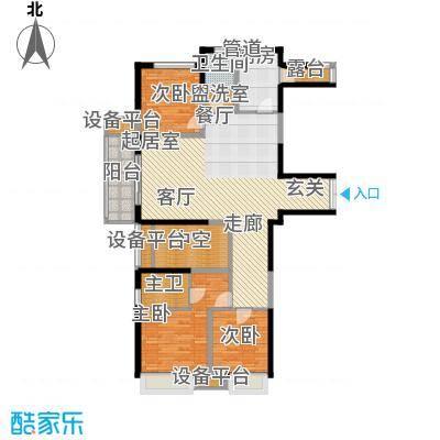 荣禾城市理想143.00㎡B23面积14300m户型
