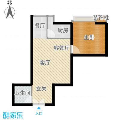 高新枫尚49.70㎡B02面积4970m户型