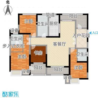 荣禾城市理想170.00㎡A23面积17000m户型