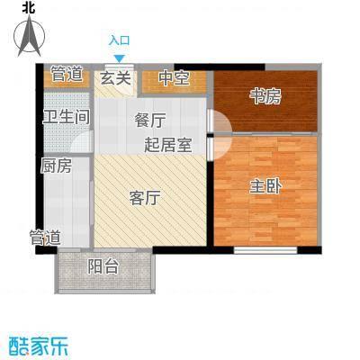 颐和宫77.09㎡面积7709m户型