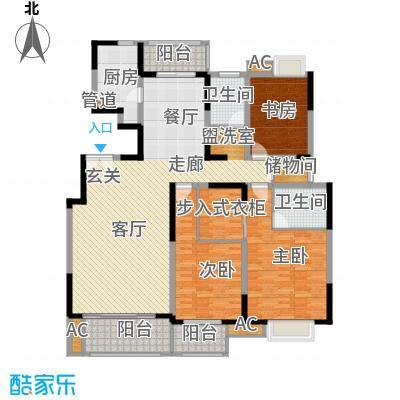 中国铁建梧桐苑168.00㎡A23面积16800m户型