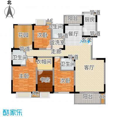 中国铁建梧桐苑194.00㎡B面积19400m户型