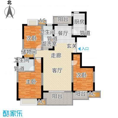 中国铁建梧桐苑141.00㎡F面积14100m户型
