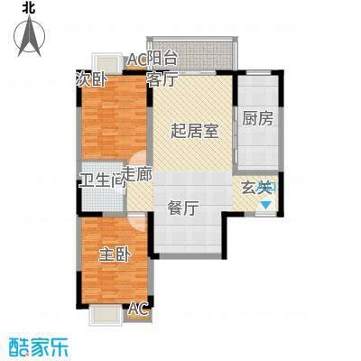 汇鑫花园99.89㎡3单元1#2室面积9989m户型