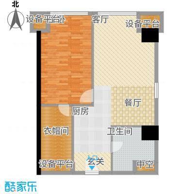 海星未来城85.72㎡1号楼10面积8572m户型