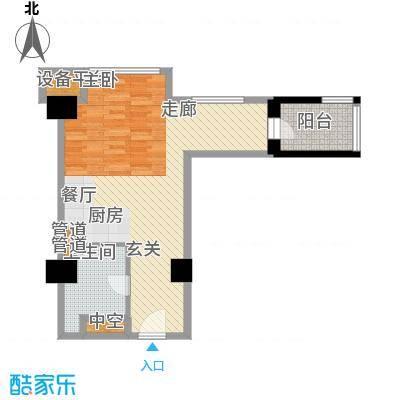 海星未来城63.90㎡1号楼6面积6390m户型