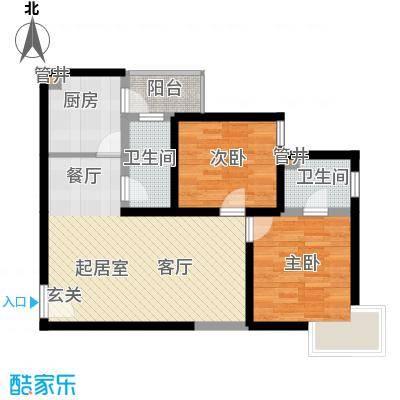 城南锦绣83.57㎡面积8357m户型