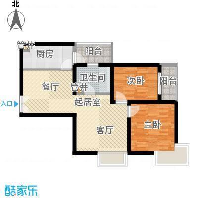 城南锦绣80.23㎡面积8023m户型