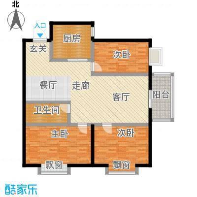 凤锦苑121.71㎡面积12171m户型