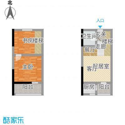 广天国际公寓43.83㎡C1面积4383m户型
