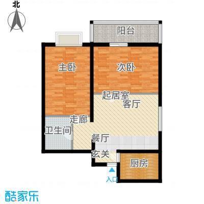 学林雅苑88.87㎡面积8887m户型