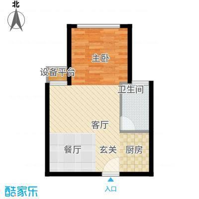枫韵蓝湾53.00㎡面积5300m户型
