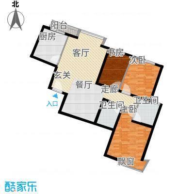 枫韵蓝湾100.41㎡面积10041m户型
