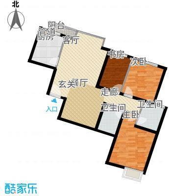 枫韵蓝湾96.29㎡面积9629m户型