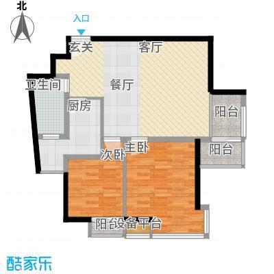 枫韵蓝湾85.24㎡面积8524m户型