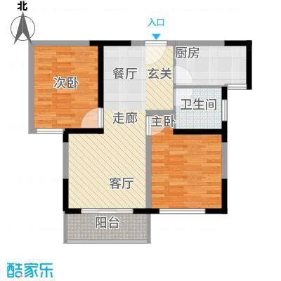 枫韵蓝湾77.31㎡面积7731m户型