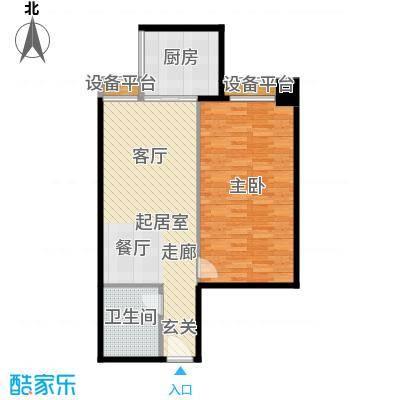 宏府嘉会公寓73.92㎡面积7392m户型