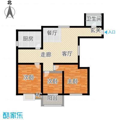 万华园琳苑小区118.00㎡面积11800m户型