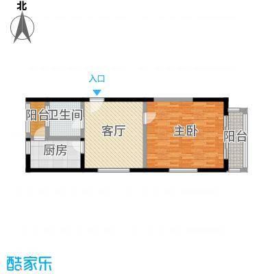 新兴港湾65.65㎡面积6565m户型