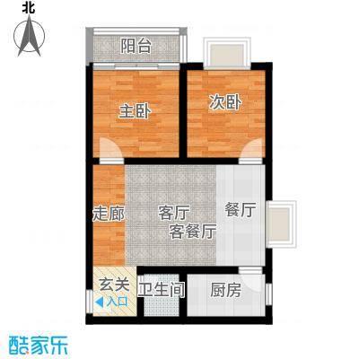 阳光80公寓69.81㎡C面积6981m户型