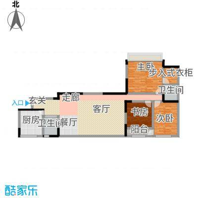 新兴港湾133.41㎡面积13341m户型
