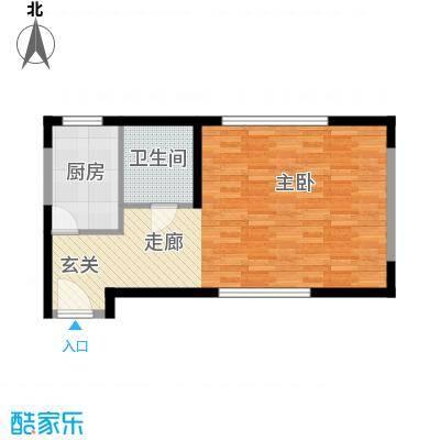 新兴港湾49.37㎡面积4937m户型