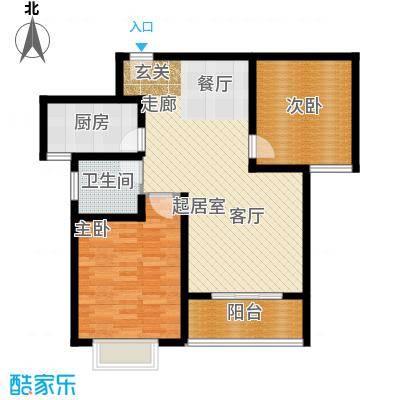 香樟园89.03㎡1#楼标准层D面积8903m户型