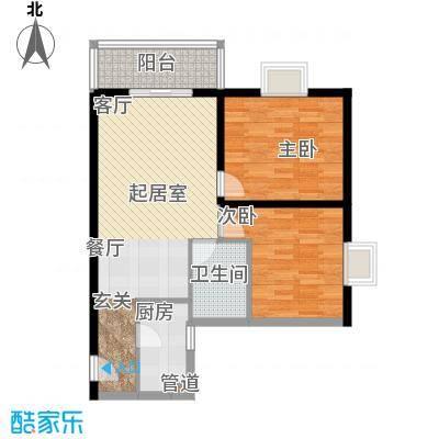 鼎盛国际公寓64.00㎡面积6400m户型