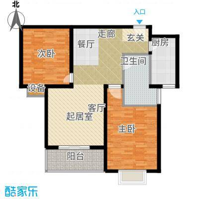 香樟园96.51㎡3#楼标准层L面积9651m户型