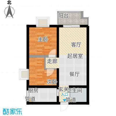 金源都市公寓81.00㎡面积8100m户型
