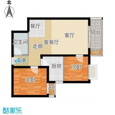 广丰花园82.66㎡面积8266m户型