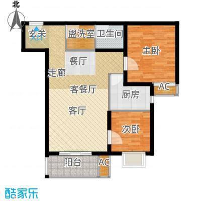 广丰花园83.18㎡面积8318m户型