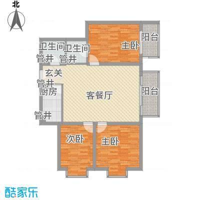 广丰花园123.85㎡面积12385m户型