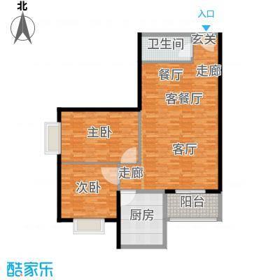 城南鑫苑108.35㎡D面积10835m户型