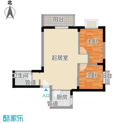 城南鑫苑82.12㎡F面积8212m户型