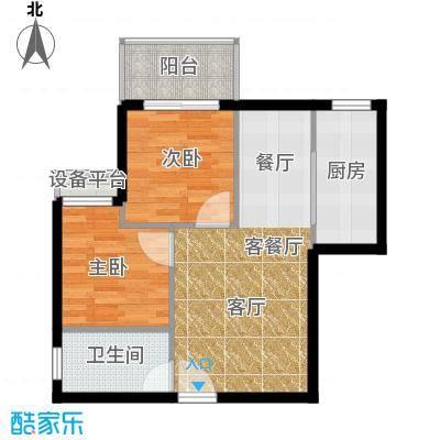 江林新城71.26㎡三期7号楼D5面积7126m户型