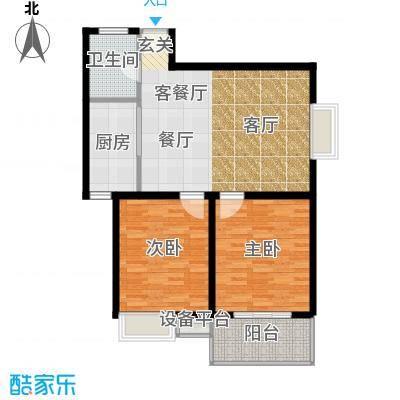 江林新城85.30㎡3#D面积8530m户型