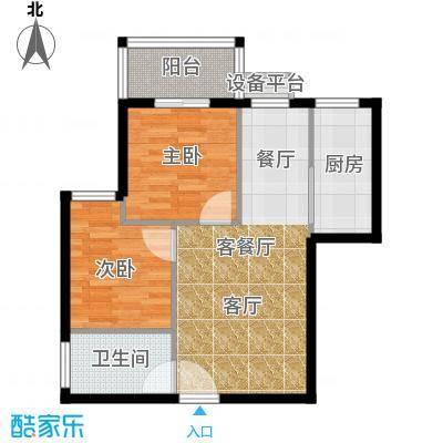 江林新城77.85㎡三期2号楼B3面积7785m户型