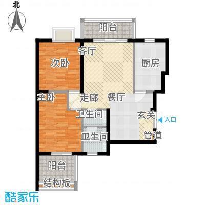 曲江观唐78.00㎡D11面积7800m户型