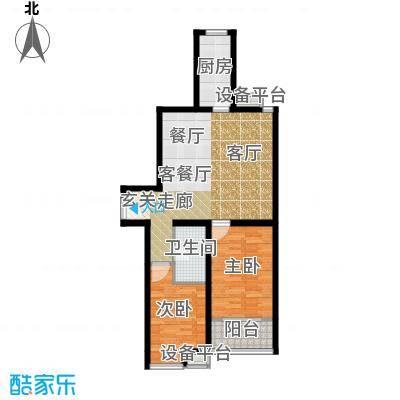江林新城99.76㎡三期7号楼D4面积9976m户型