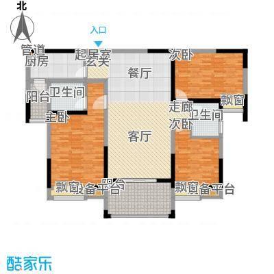 中海国际社区129.00㎡k面积12900m户型