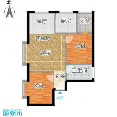 江林新城81.30㎡4#楼)2面积8130m户型